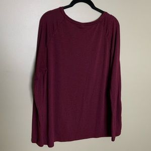 Old Navy Tops - Old Navy luxe burgundy long sleeve tunic size L